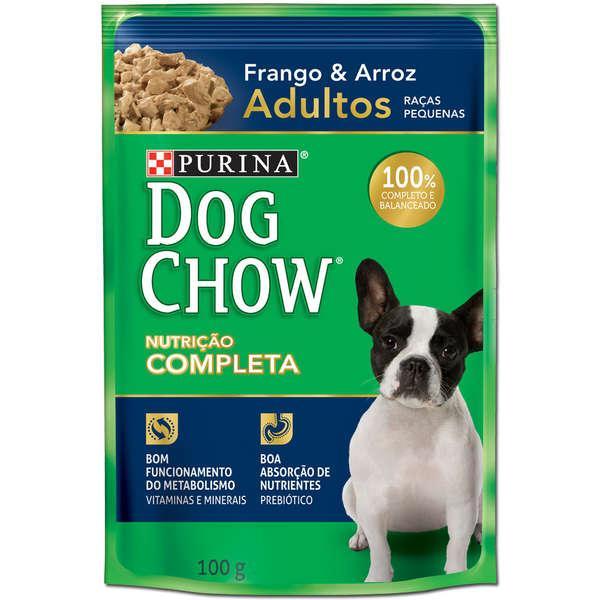 Dog Chow Sache Adultos R/P Frango e Arroz 100g