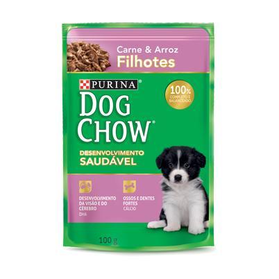 Dog Chow Sache Filhote Carne e Arroz 100g
