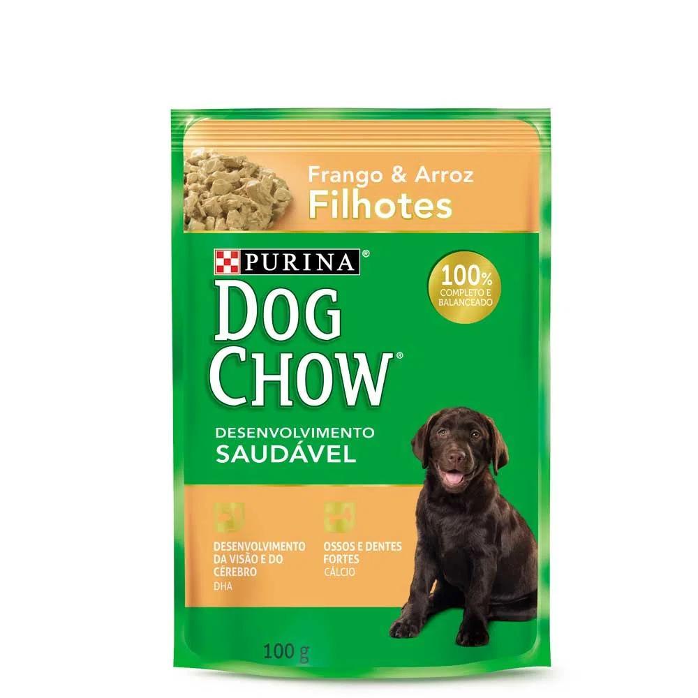 Dog Chow Sache Filhote Frango e Arroz 100g