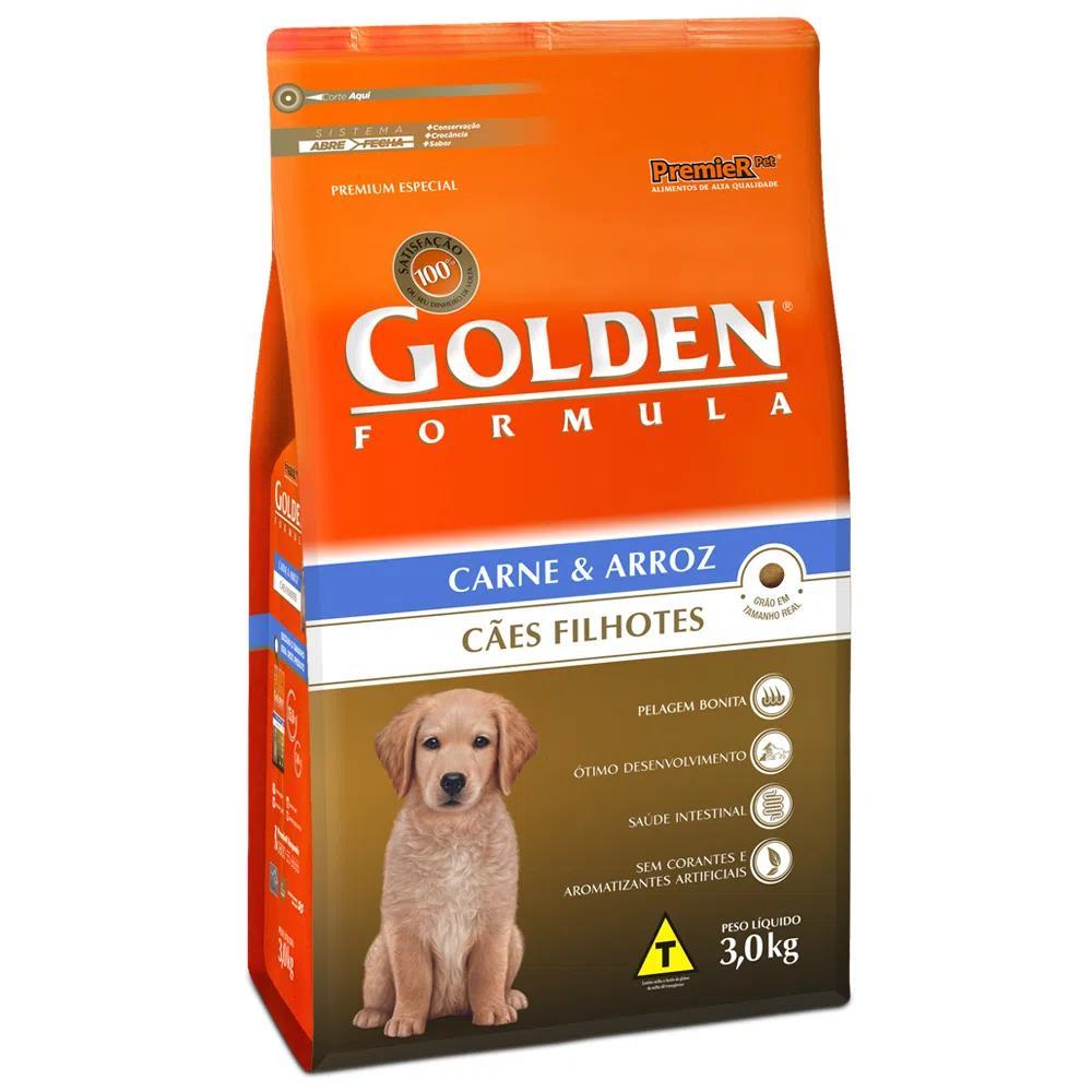 Golden Caes Filhotes Carne