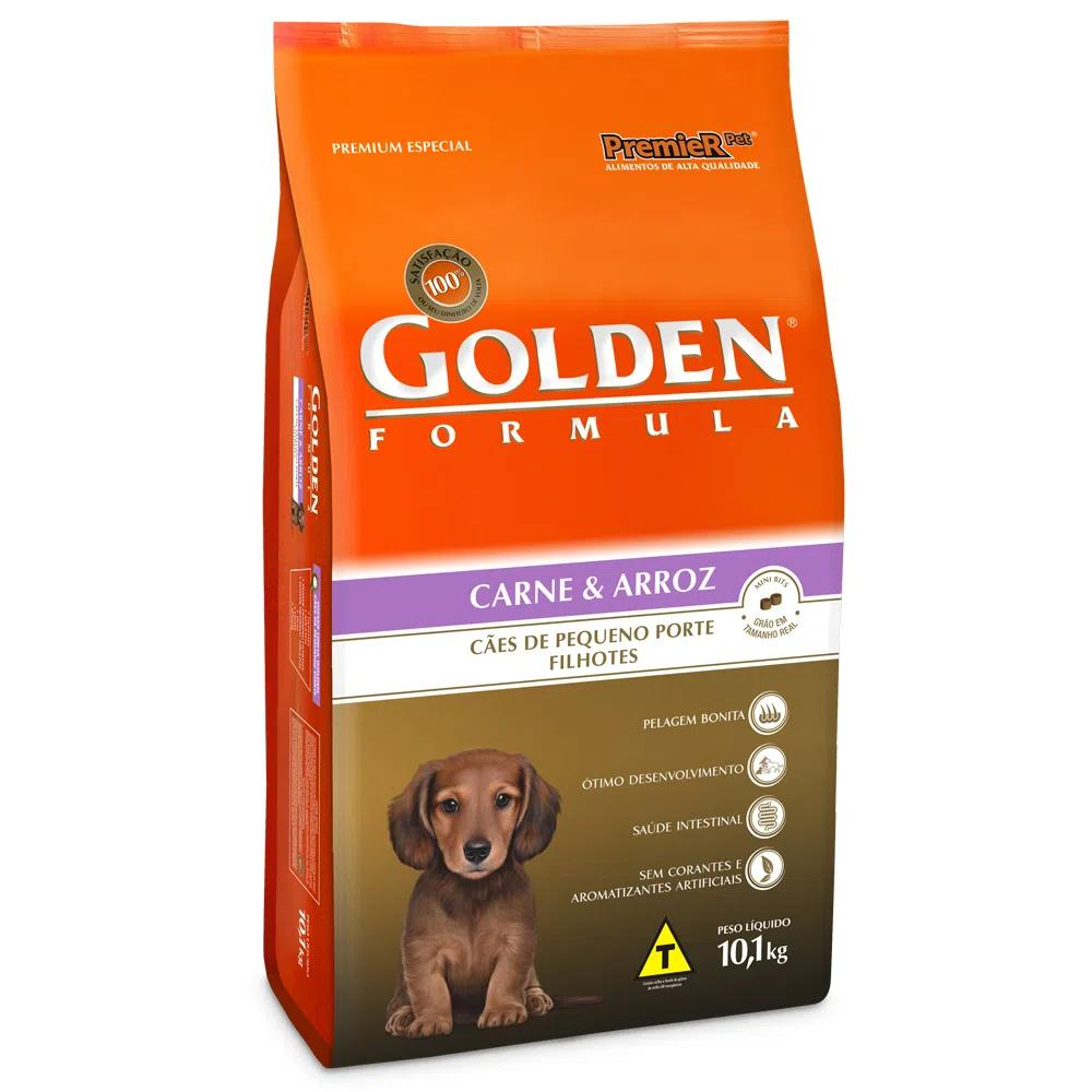 Golden Caes Filhotes Carne Mini Bits