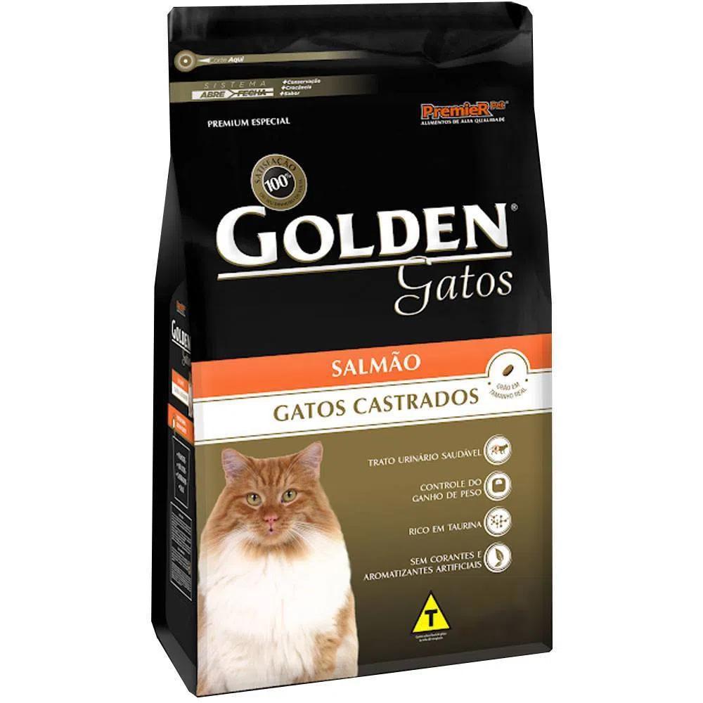 Golden Gatos Adulto Castrado Salmão
