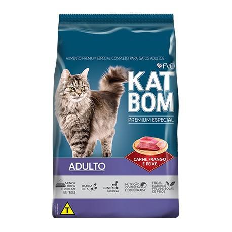 Katbom Gatos Carne, Frango e Peixe