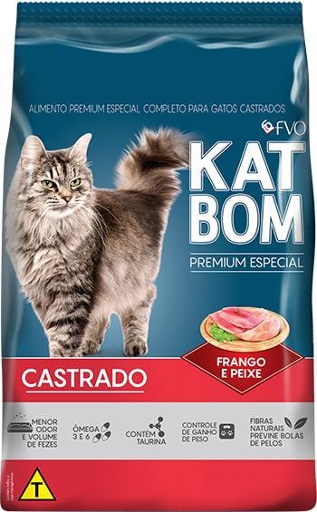 KatBom Gatos Castrados Frango e Peixe