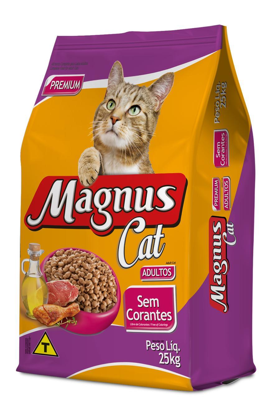Magnus Cat Premium Gatos Adultos Sem Corantes 25Kg