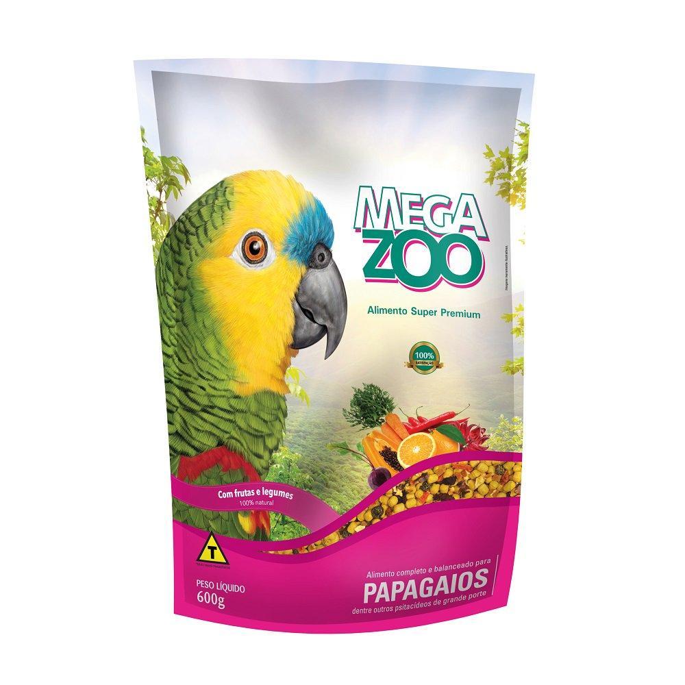Megazoo Papagaios Frutas E Legumes 600g