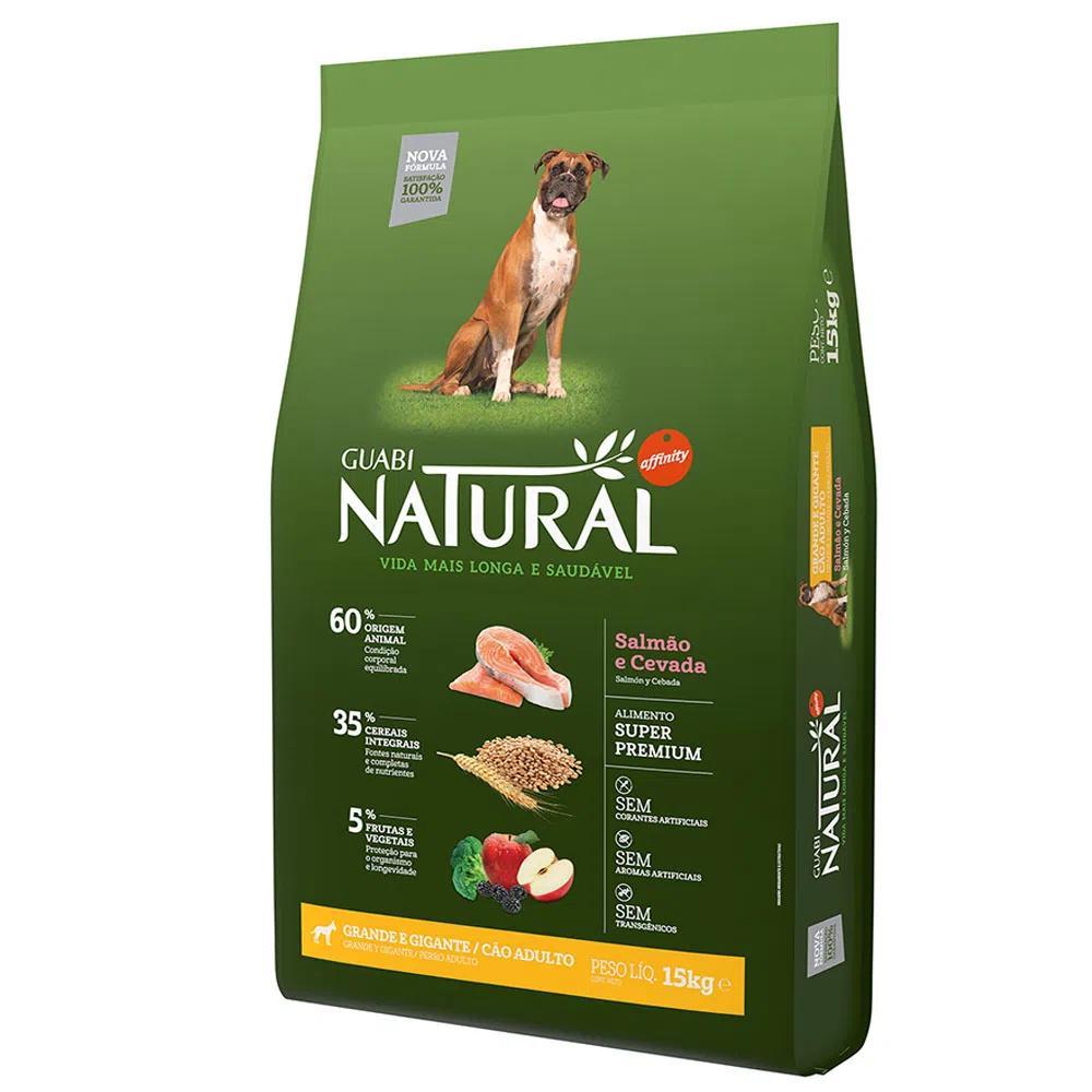 Natural Cães Adulto Raças Grandes e Gigantes Salmão e Cevada 15Kg