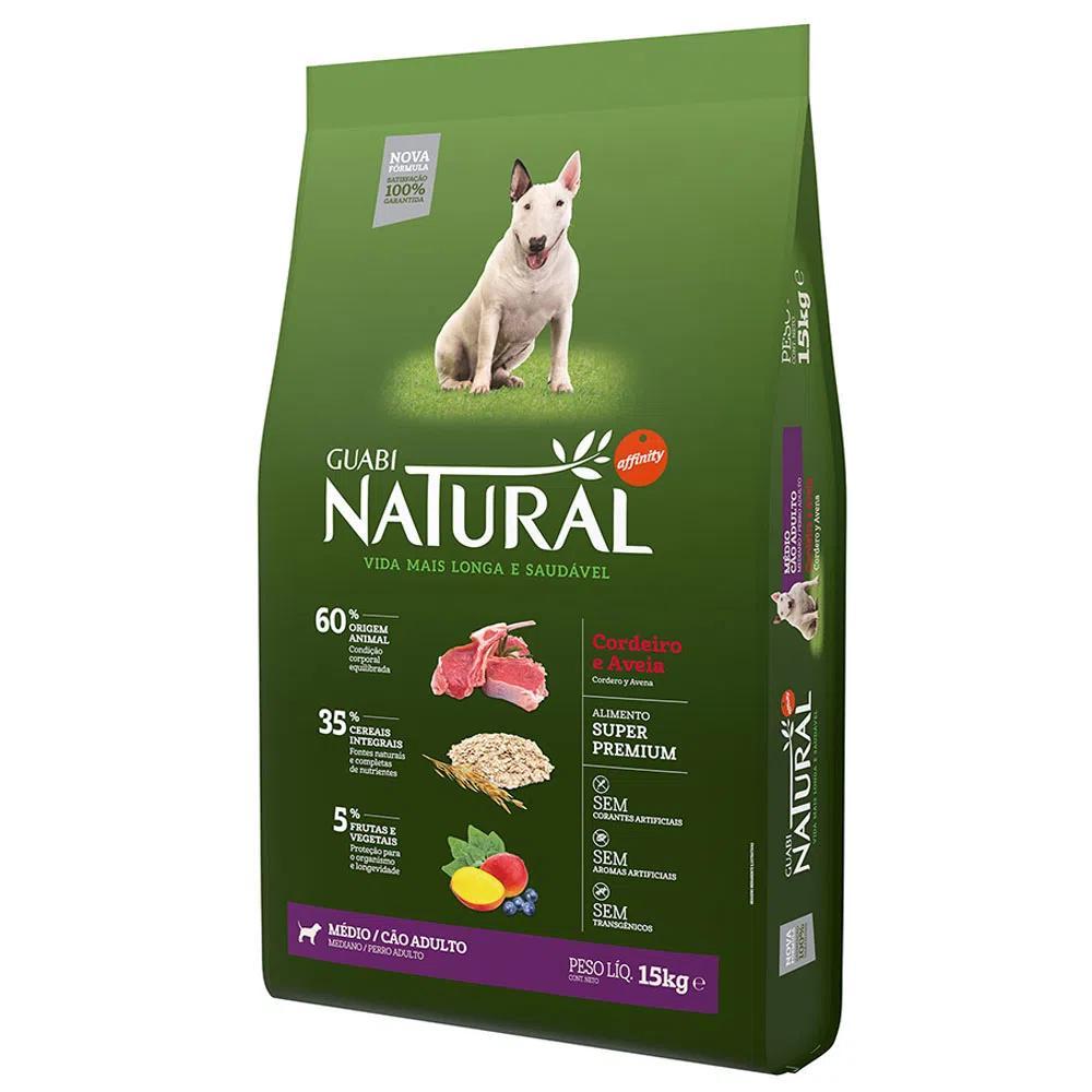 Natural Cães Adultos Médio Cordeiro e Aveia