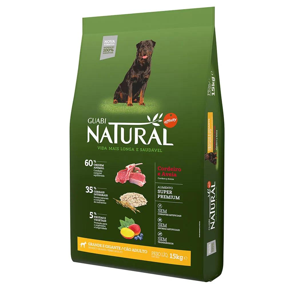 Natural Cães Adultos Raças Grande e Gigantes Cordeiro e Aveia