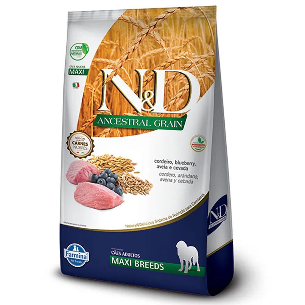 NED Ancestral Cães Adultos Cordeiro/Blueberry Maxi