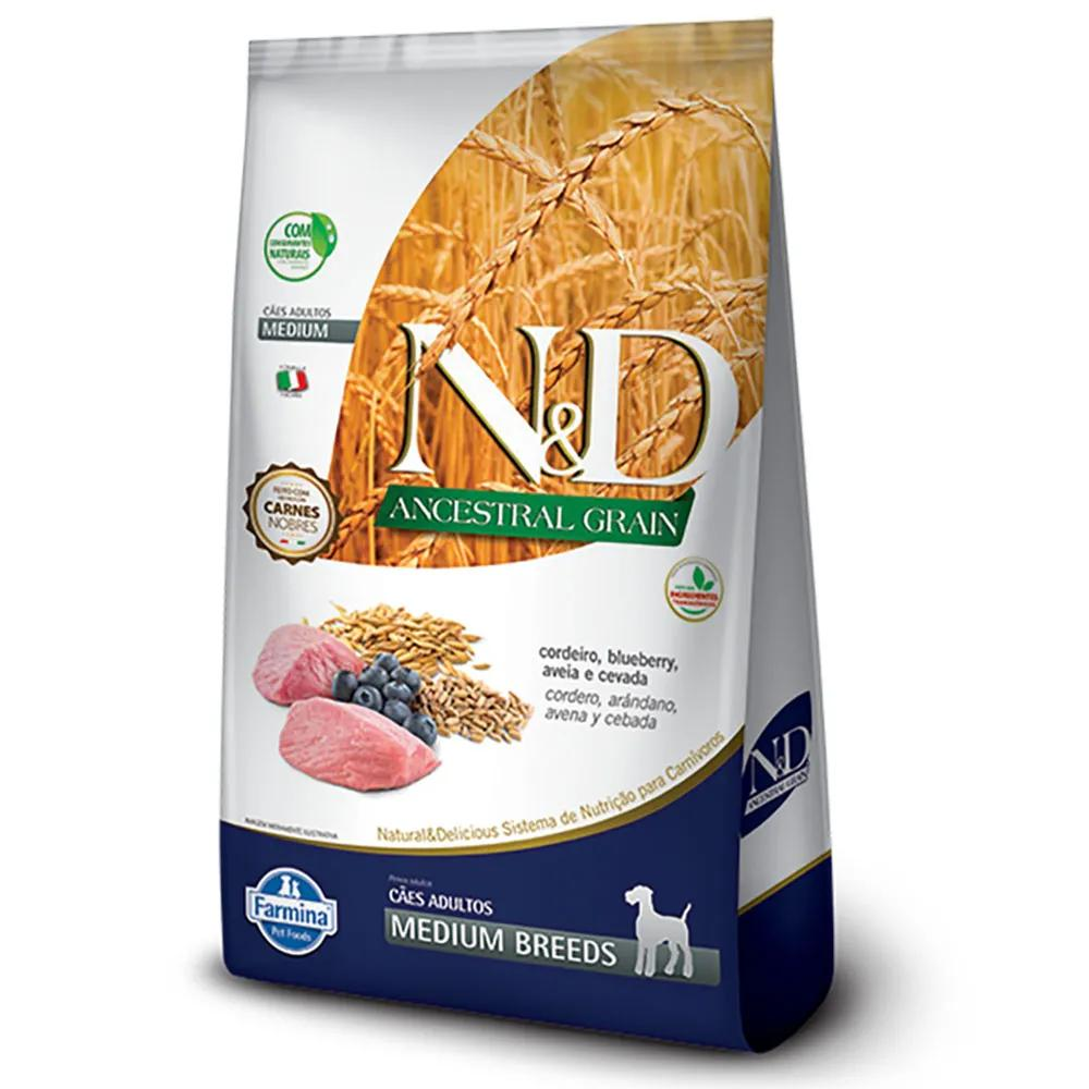 NED Ancestral Cães Adultos Cordeiro/Blueberry Medium