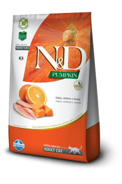 NED Pumpkin Gatos Adultos Tilápia/Abóbora/Laranja 1,5kg