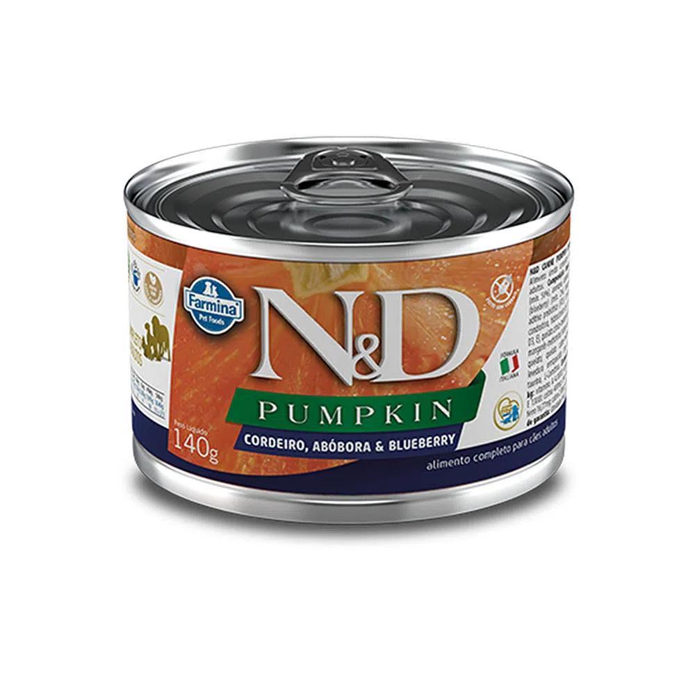 NED Pumpkin Lata Cães Adultos Cordeiro/Abóbora 140g