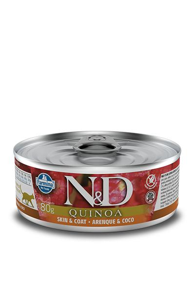 NED Quinoa Lata Gatos Adultos Skin e Coat Arenque