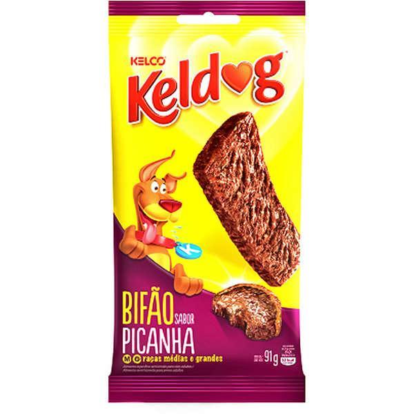 Petisco KelDog Cães Bifão Picanha - 91g