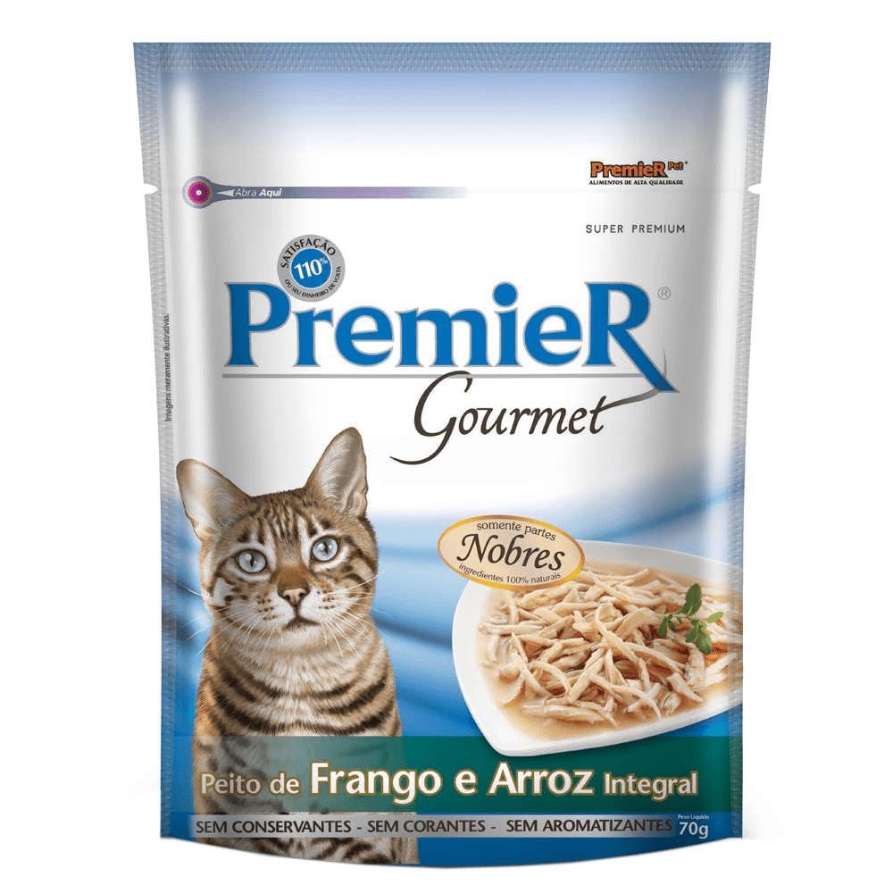 Premier Gatos Sachê Gourmet Frango e Arroz Integral 70g