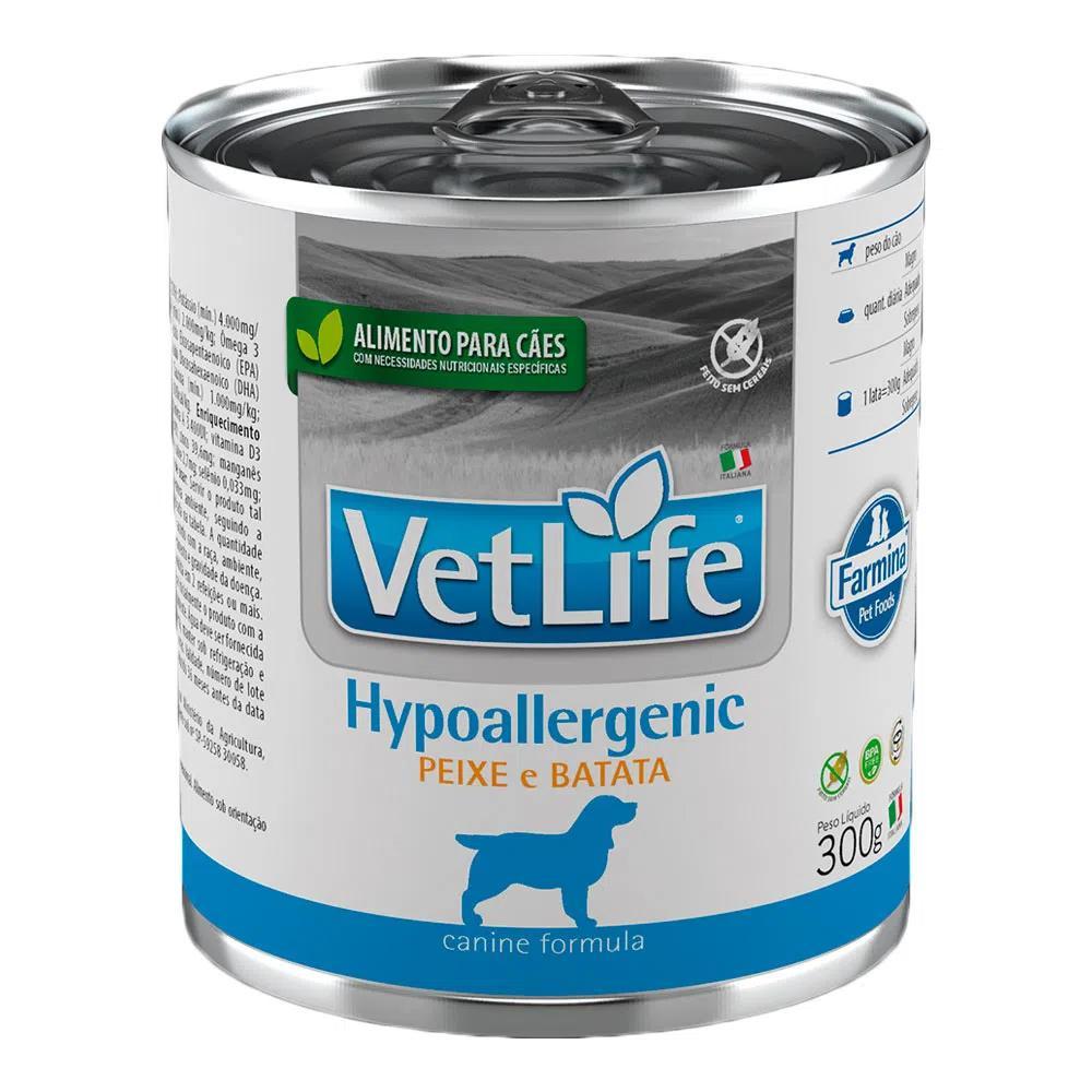 Vet Life Wet Lata Cães Hypoallergenic 300g