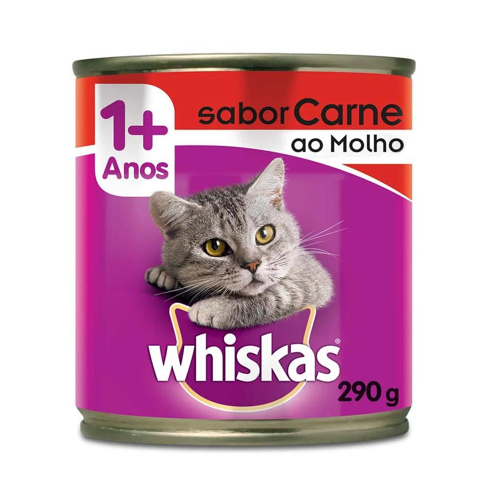 Whiskas Lata Carne Ao Molho 290g