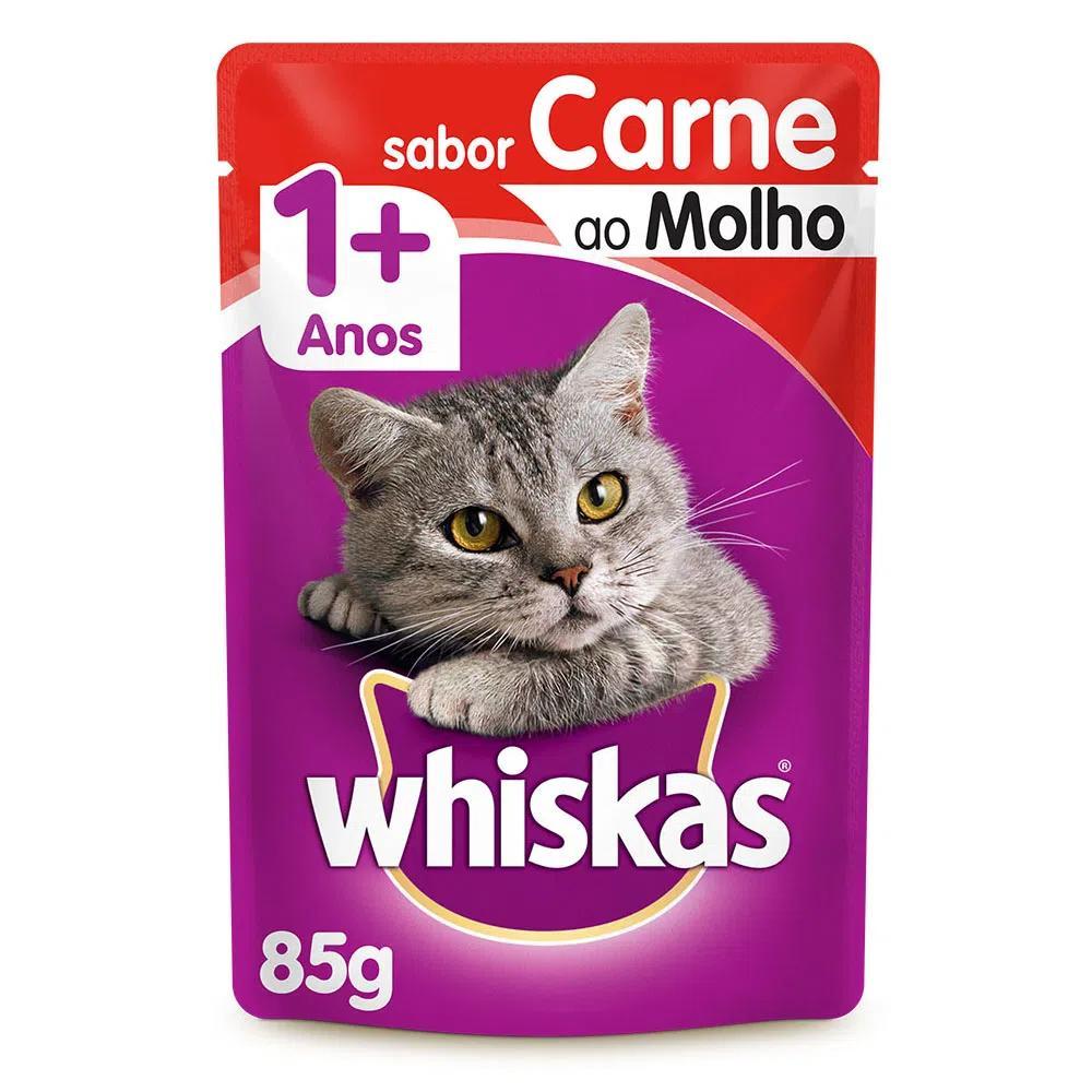 Whiskas Sachê Carne Ao Molho 85g