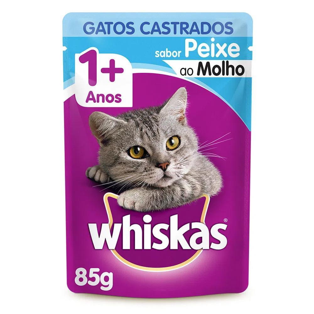 Whiskas Sachê Castrados Peixe Ao Molho 85g