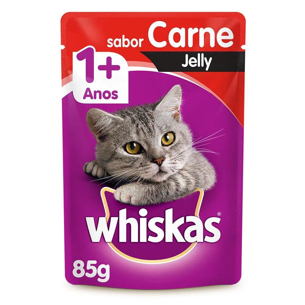 Whiskas Sachê Jelly Carne 85g