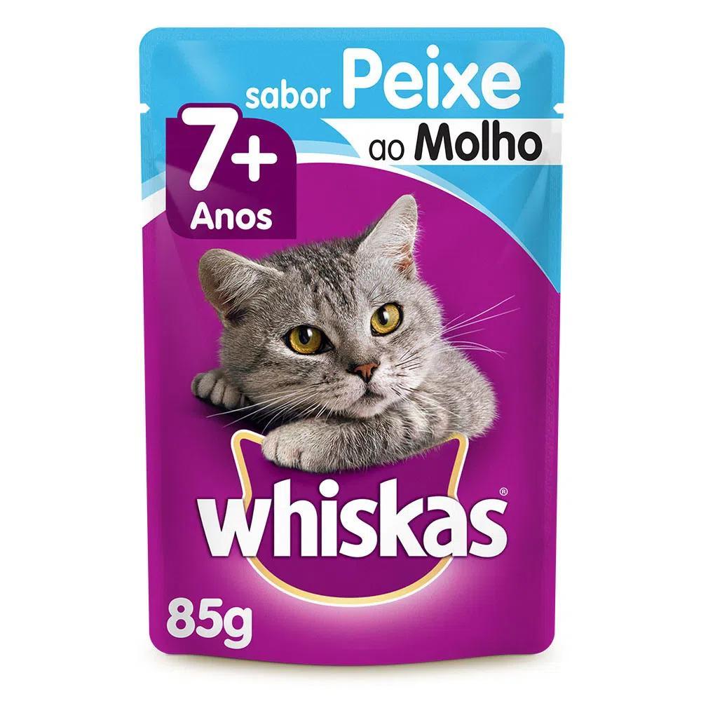 Whiskas Sachê Peixe Ao Molho 7+ 85g