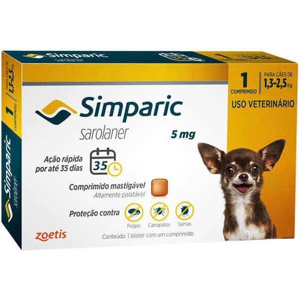 Zoets Simparic Cães - 1 Comprimido