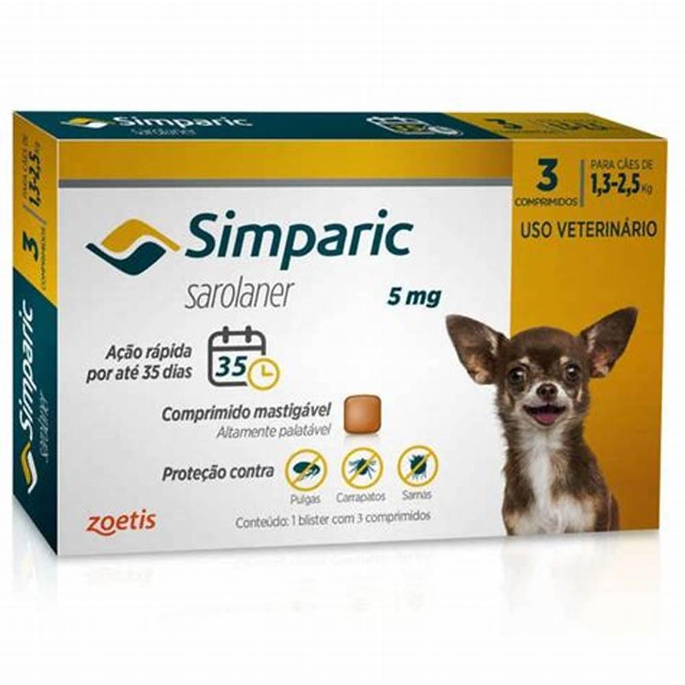 Zoets Simparic Cães - 3 Comprimidos