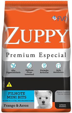 Zuppy Filhotes Frango e Arroz Mini Bits 3kg