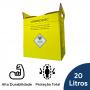 Coletor Perfuro Cortante Amarelo Grandesc - 20L