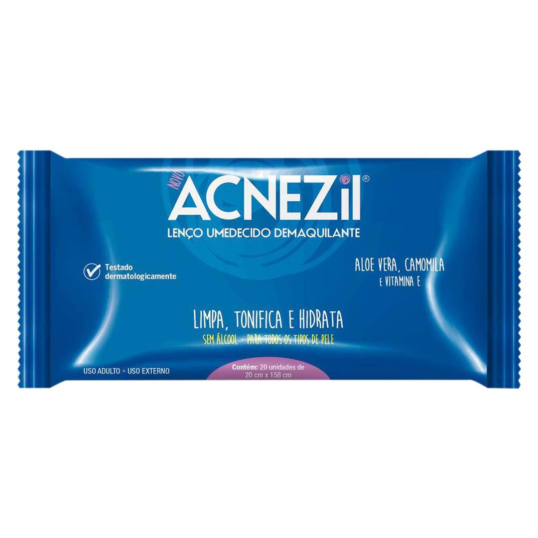 Lenço Umedecido Acnezil Demaquilante - 20 Unidades