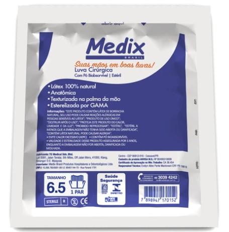 Luva Cirúrgica Estéril Medix