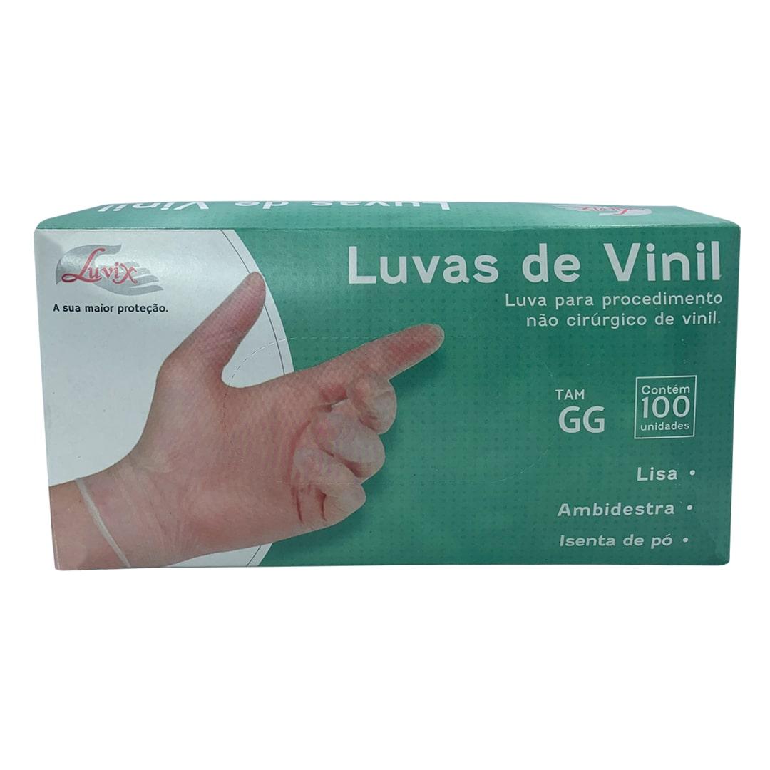 Luva de Procedimento Vinil S/Pó GG 100unid