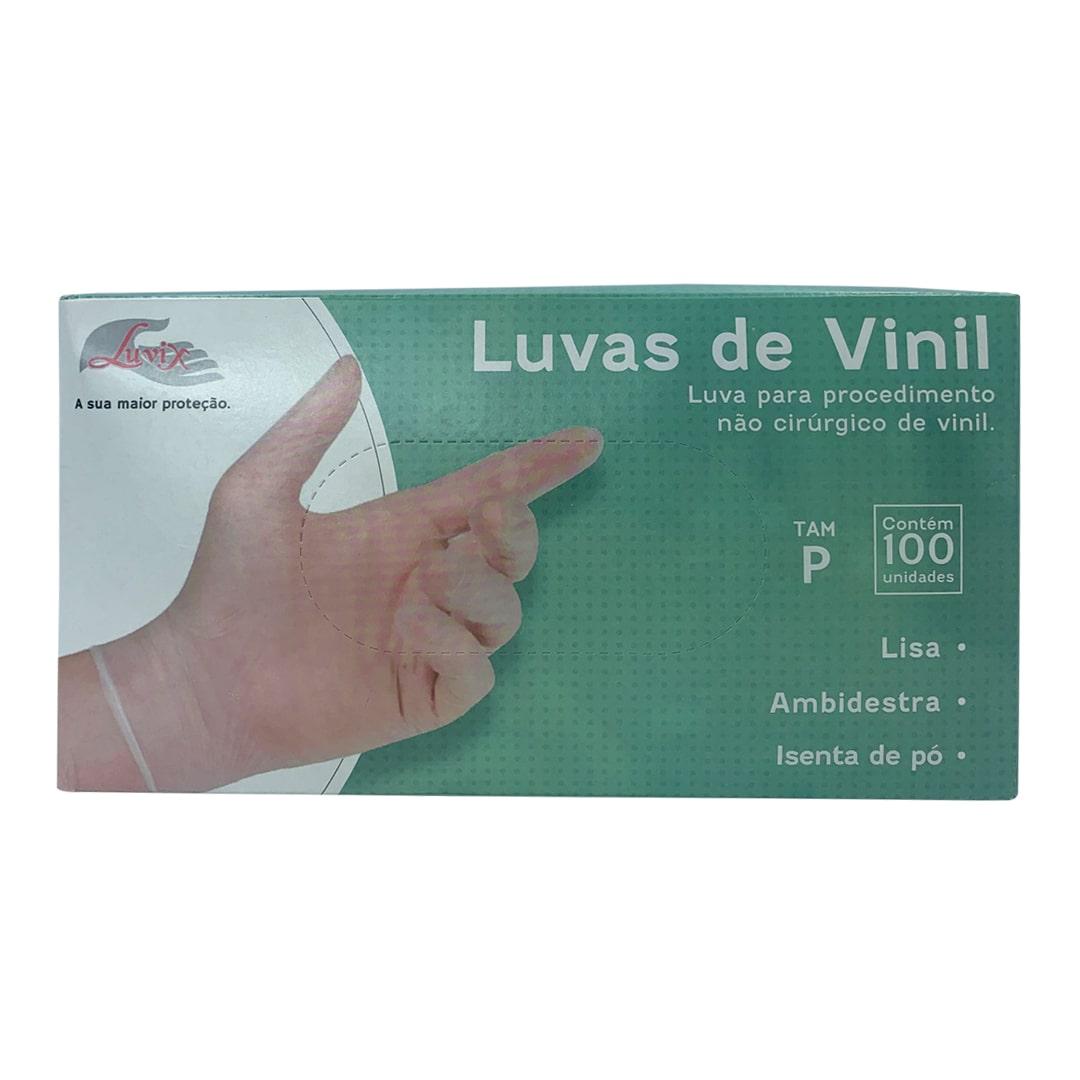 Luva de Procedimento Vinil S/Pó P 100Unid