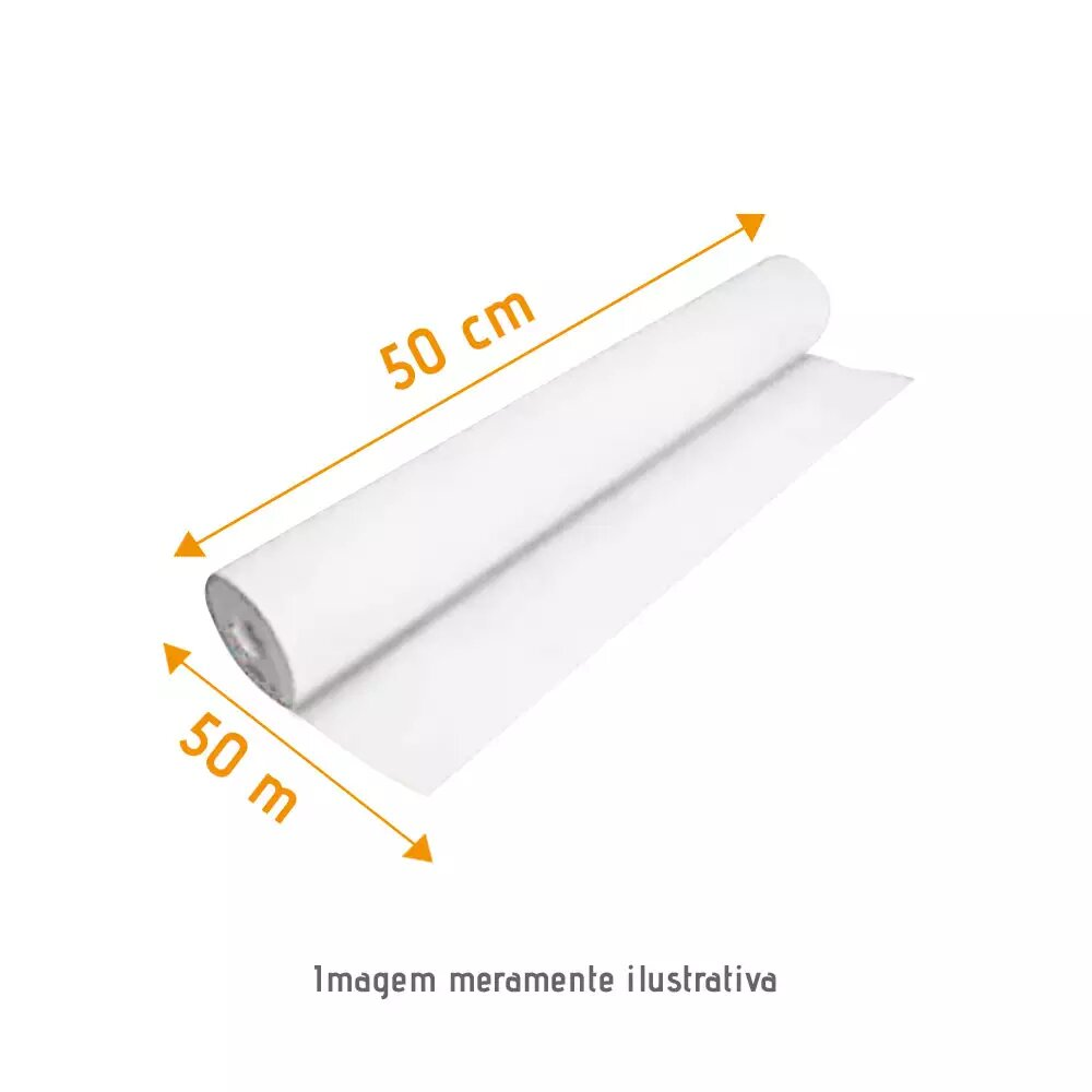 Papel Lençol Branco 0,50 x ,050 Grandesc