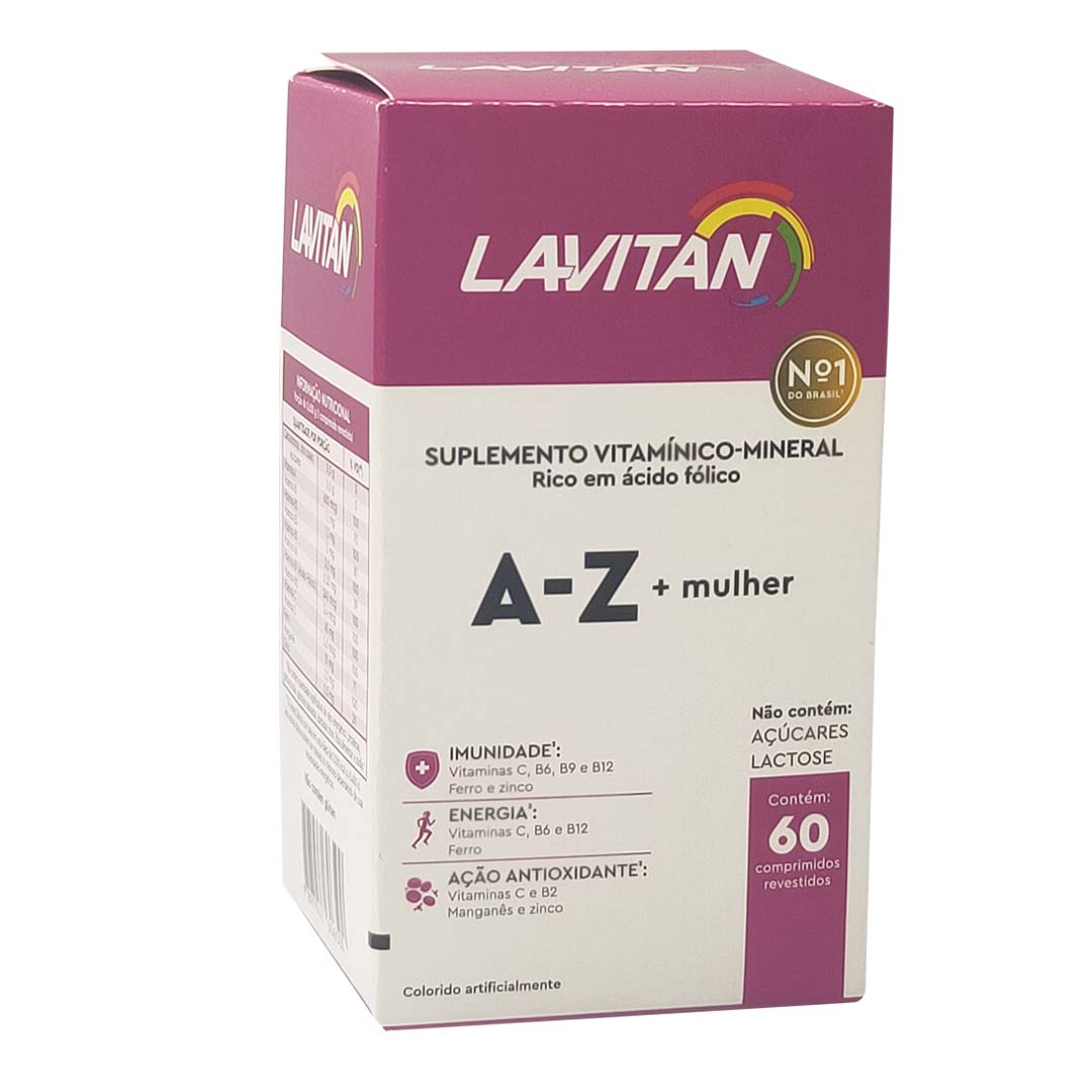Suplemento Vitamínico Lavitan A-Z Mulher Com 60 Comprimidos