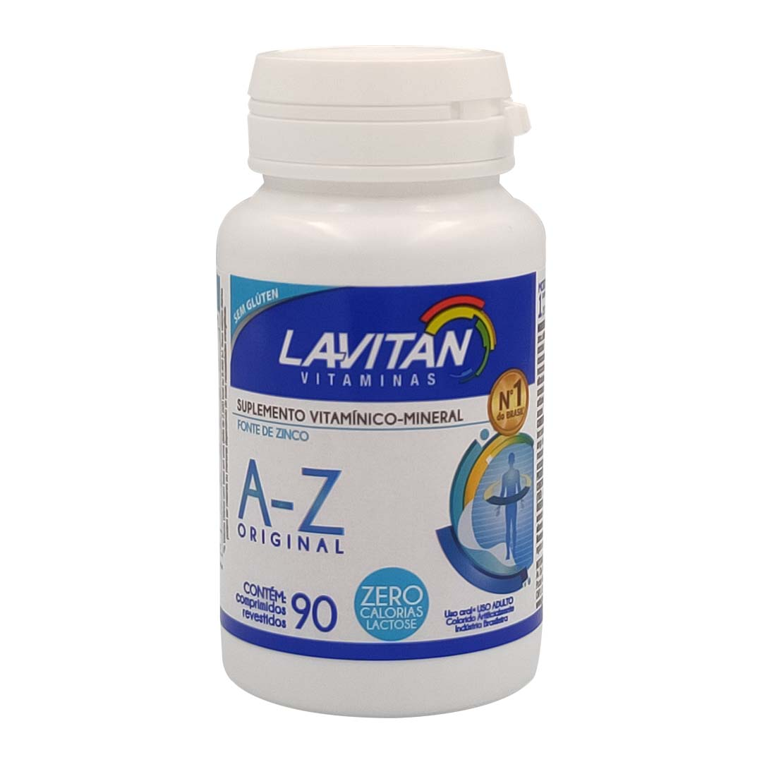 Suplemento Vitamínico Lavitan A-Z Original Com 90 Comprimidos