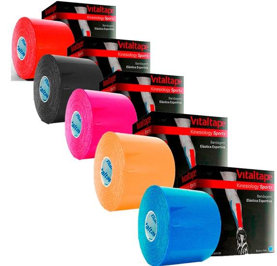 VitalTape Sports Kinesiology 5cm x 5m Preta