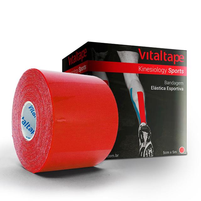 VitalTape Sports Kinesiology 5cm x 5m Vermelha