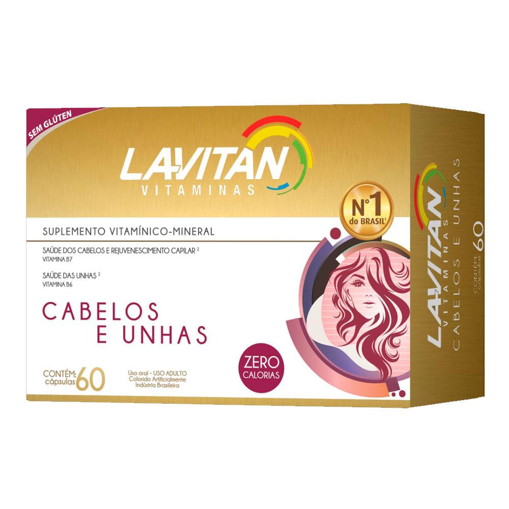 Vitamina Para Cabelos e Unhas Lavitan Com 60 Cápsulas