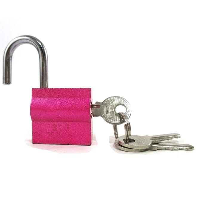 Cadeado 30mm Rosa Kit com 3 Peças 9 Chaves Simples  Shenling Padloc