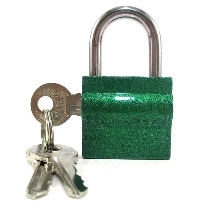 Cadeado 30mm Verde Kit com 3 Peças 9 Chaves Simples Shenling Padloc