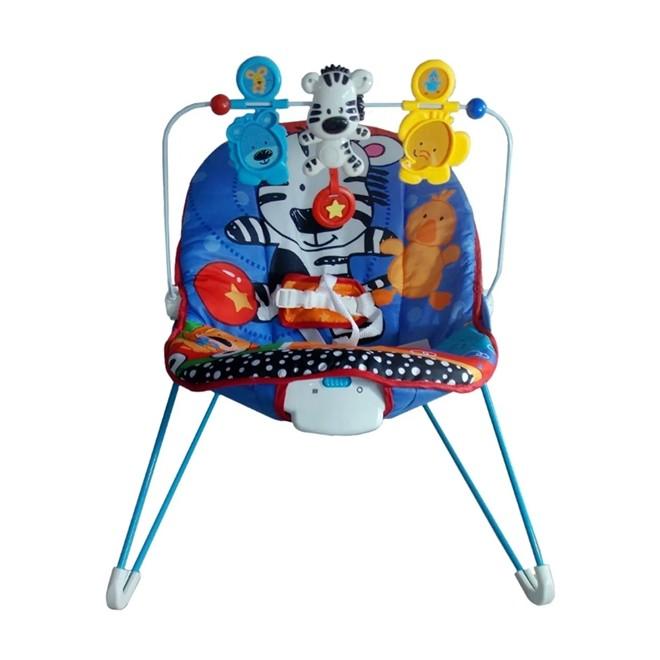 Cadeira de Descanso C/ Vibração e Musica Para Bebes Azul BW093AZ Importway