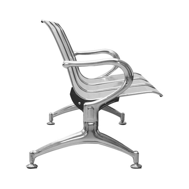 Cadeira tipo banco longarina 3 assentos em aço iwbl3 002 importway
