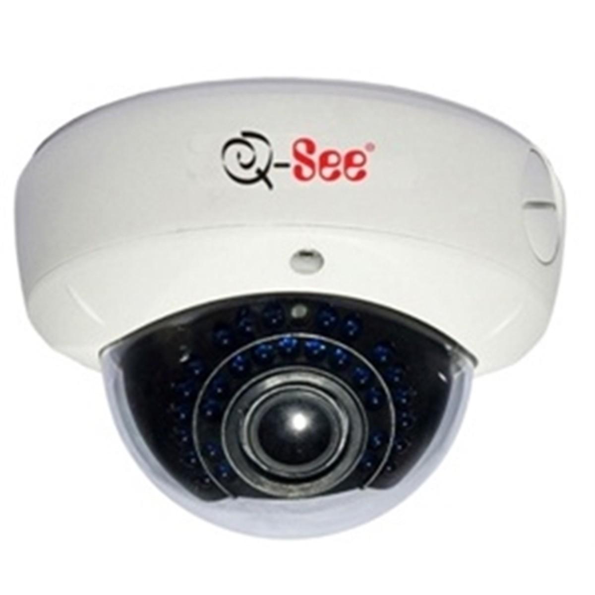 Camera Analog EXT IR25 Dome 600L CCD 1/3 2,8 á 12mm Branca QSC13212D Q-SEE