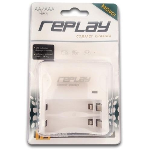 Carregador de Pilhas para 2 Pilhas AA/AAA 110/220 com Led  03O122 Replay/Unicoba