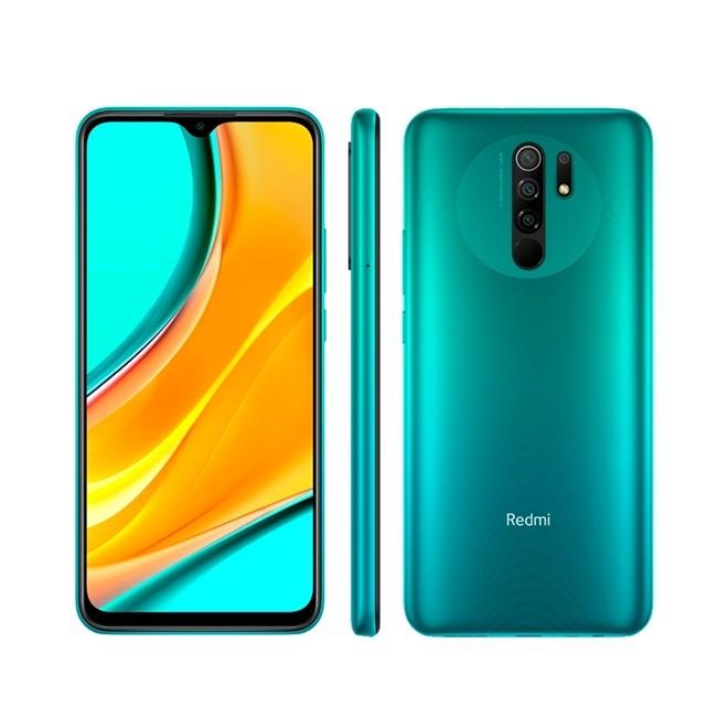 Celular Smartphone Redmi  9 64gb 4Gb Verde 6,53 5020mAH 720 Qualcomm Xiaomi