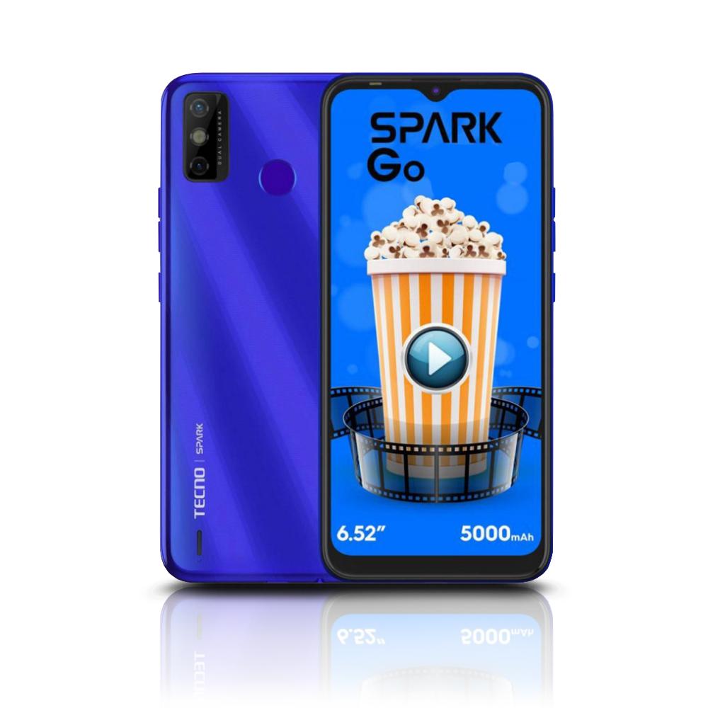 Celular Smartphone Spark 6Go 64GB 4GB 5000mAh Azul KE5K TECNO