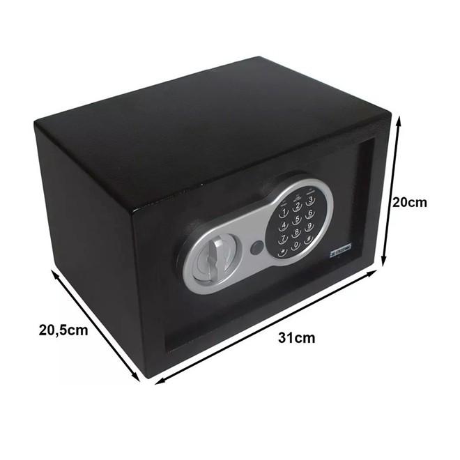 Cofre de Segurança 31x20x20cm com Sistema Digital IWCFS-004 Importway