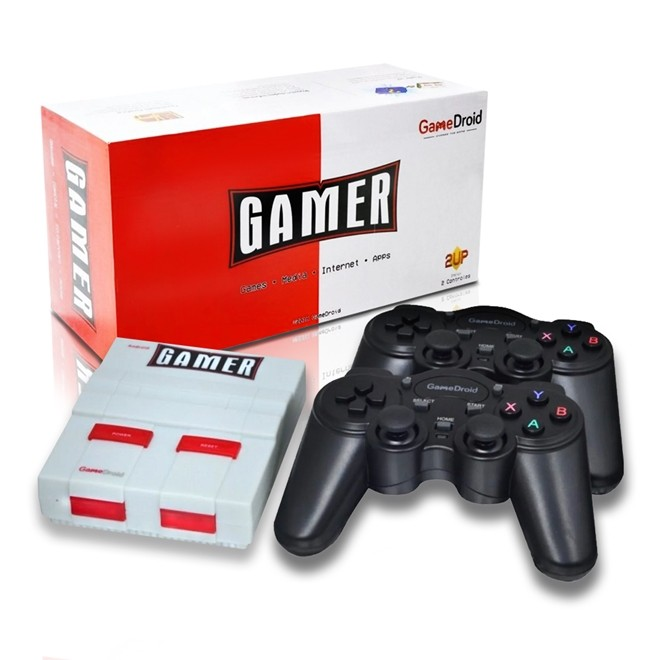 Console Gamedroid Gamer C/ 2 Controles Gamedroid Gamer